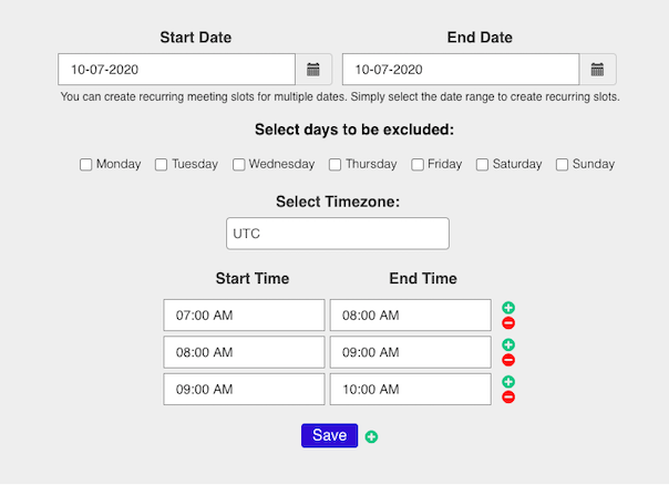 Appointment Schedule Builder
